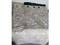 Dunelm eyelet natural fen curtains new