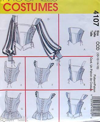 Renaissance Blouse Pattern (Renaissance Costume Top Pattern wench blouse sz 10 -)
