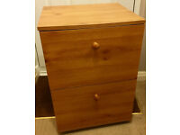 2 Drawer Filing Cabinet - Pine Effect
