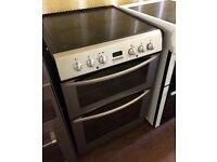 Belling Silver 60cm Double electric cooker in Excellent condition