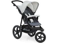 EXDISPLAY HAUCK RUNNER SPORTY JOGGER STYLE 3 wheeler pram pushchair from birth to 4