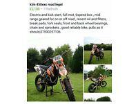 KTM EXC 450 Road Legal
