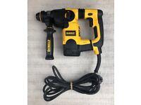DeWalt D25323K L Shape SDS Hammer 3 Mode Low Vibration 240V 800W