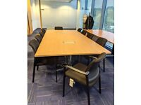 FREE SAME DAY DELIVERY - Boardroom/ Conference Table With 10 Meeting Chairs
