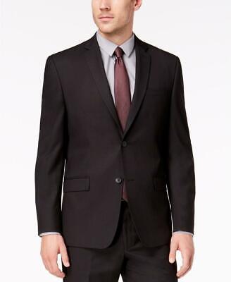 $300 Andrew Marc Men's Classic Fit Stretch Black Sport Coat Jacket 40R