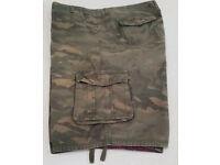 Men's Firetrap Cotton 4XL Cargo Shorts Green