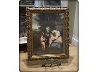 Vintage Gilt Framed Glazed Print of 'The Holy Family'