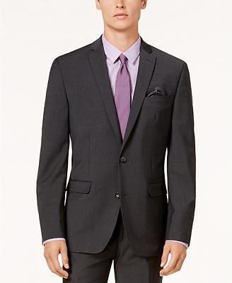 $425 Bar III Dark Gray Men's Slim Fit Active Stretch Suit Jacket Sport Coat 40R