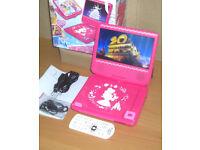 Lexibook Disney Princess Portable DVD Player Rechargeable HD Video DVDP6DP