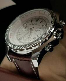 Authentic men's large face chronograph wristwatch (New)