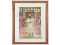 Colman's mustard, framed poster
