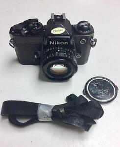 Nikon FE black body with Nikon series E 50mm f1.8 lens in good, usable condition 90 days warranty