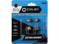 CV-EV10 BLACK COLOR - BRAND NEW COLBY VALVE EMERGENCY TIRE VALVES 2-PACK