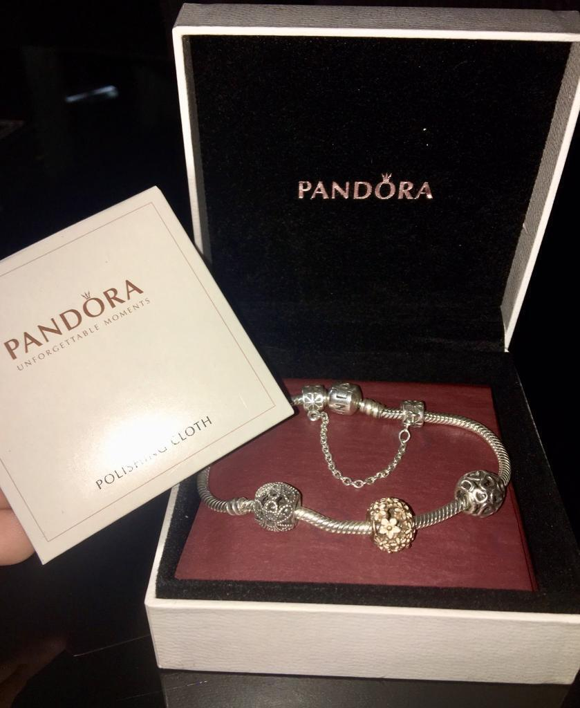 Beautiful Pandora Bracelet With Limited Edition Rose Gold