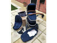 Joolz Geo Earth Mono Pushchair & Accessories - Parrot blue