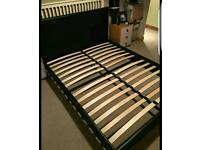 Dark Brown King Size Leather Bed Frame