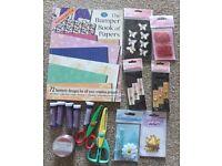 Assortment of Cardmaking/ Scrapbooking Items.