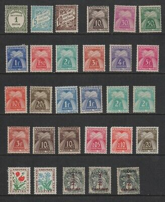 French Andorra Postage Dues 1935 - 1964 & Newspaper P1 (3) All MLH $91.10