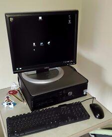"Dell OptiPlex Computer Intel Core 2 Duo CPU - 250GB Hard Drive - 4GB RAM - 19"" LCD Monitor"