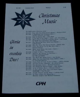 Gloria in Excelsis Deo!, Coventry Carol, Dale Warland 1968  OLD SHEET (Coventry Carol Music)