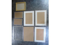 7 x Picture Frames - Most with glass.