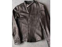 All Saints Size M Black Leather Jacket