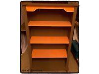 Wooden Bookcase Hand Painted in Honfleur & Pumpkin Chalk Paint.