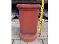 "Vintage, Reclaimed 1930's Terracotta Chimney Pot. Round. 18"" High. Planter"