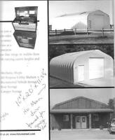 Great buy -never used A style steel building-with base plate