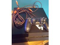 Used PlayStation 4 With 10ftBraided Scuf Charging Cable Controller 2 Blue Ray DVDs and Far Cry 4