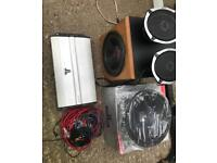 JL audio 6 channel amp + 2 subs and 2 speakers