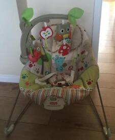 Fisher Price Woodsy Friends Bouncer in great condition