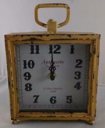 **DAMAGED**  Table Mantel Clock  Antiquite de PARIS  Distressed Vintage Look