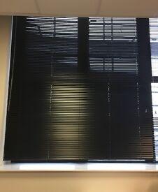 2x Studio Jet Black Venetian Blind - 25mm Slat | 175cm width x 215cm drop