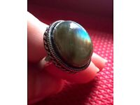 Labradorite silver ring for sale