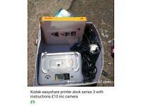Kodak photo printer with camera