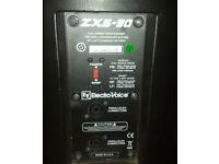 EV Electrovoice ZX5-90 Passive Speakers Pair EV 1212 Amplifier DC-ONE Control unit FLIGHTCASED
