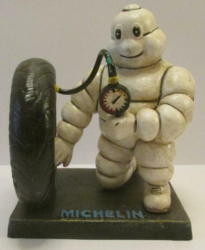 Michelin Man Checking Tractor Tire For Air Presure Whale London 1949