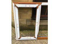 Brand New Unused Honey Oak Upvc window white inside NO GLASS