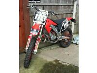 Honda cr 125 learner legal green laner 52plate on road not kx yz ktm rm