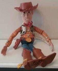 DISNEY TOY STORY TALKING SHERIFF WOODY PULLSTRING DOLL FIGURE WITH HAT DISNEY PIXAR