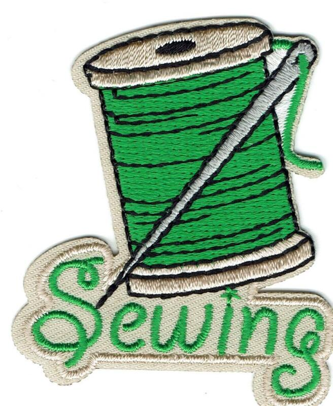 Girl Boy SEWING Thread Project hand class Fun Patches Crests Badges SCOUT GUIDE