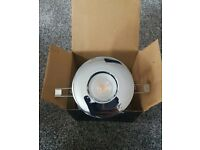 Chrome IP65 Fire rated LED downlight NEW Gu10