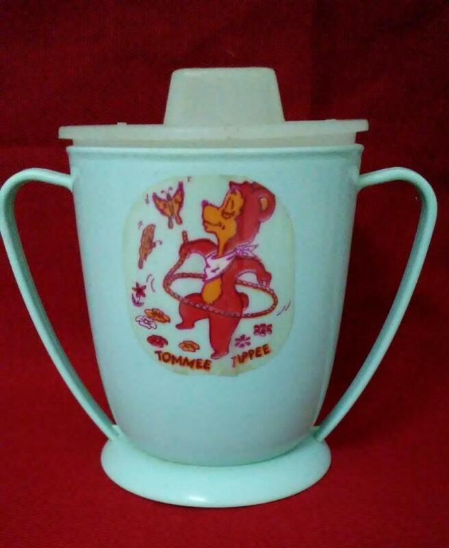 Vintage Tommee Tippee Sippy Cup 2-Handles - 6oz Measuring - Westland Plastics