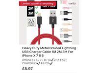 HeavyDuty Lightning Charg. Cable Iphone/ipad