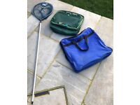 Fishing Landing and Keep Nets for Sale with Carry Holdall & Pole