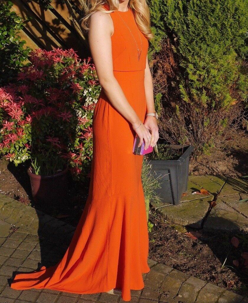Stunning Orange ASOS formal dress fishtail style - worn once!