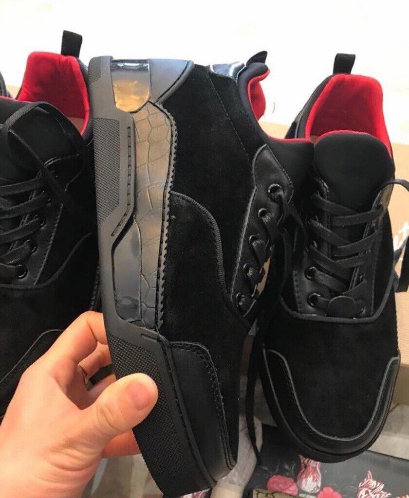 promo code b2999 ea1f8 Christian Louboutin Aurelien Size 8, Black suede, Red bottoms | in East  End, Glasgow | Gumtree