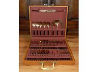 £50 ono! Vintage 6-person Bronze 58-Pieces Cutlery Set with Rosewood Handles