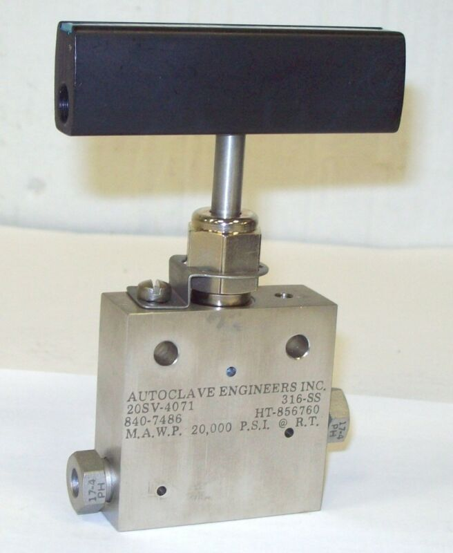 "Autoclave Engineers Sf 250 Cx 1/4"" 20000 Psi Stainless Steel Valve 20sv4071"